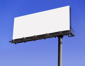 Blank Billboard --- Image by © James Nazz/Corbis