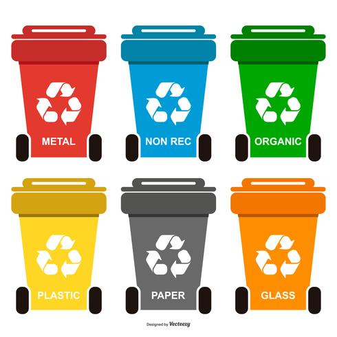 recycle-waste-bins-collection-vector